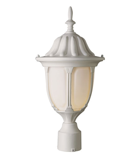Trans Globe Lighting The Standard 1 Light Post Lantern in White 4042-WH photo