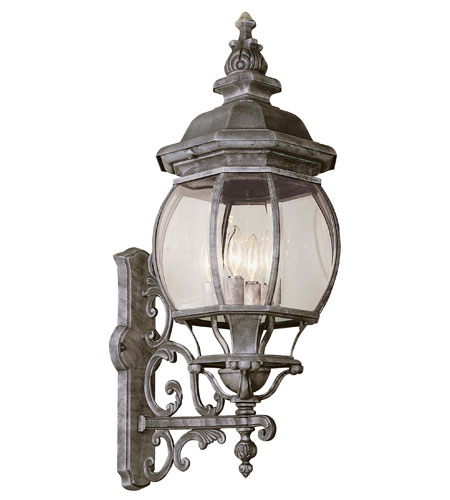 Trans Globe Lighting Classic 4 Light Outdoor Wall Lantern in Swedish Iron 4052-SWI photo