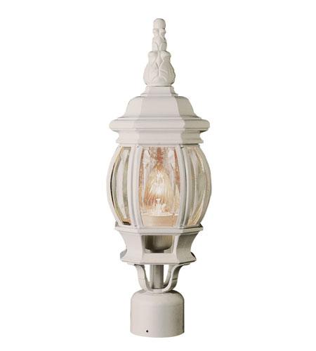 Trans Globe Lighting Classic 1 Light Post Lantern in White 4060-WH photo