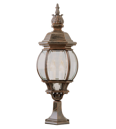 Trans Globe Lighting 4072-RT Ville Frenche 4 Light 30 inch Rust Post Lantern photo