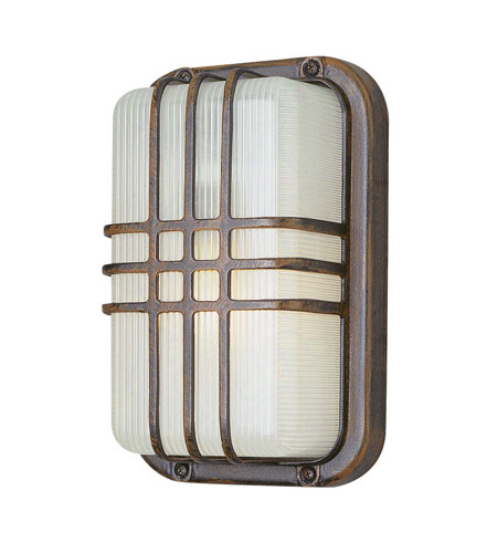 Trans Globe Lighting The Standard 1 Light Outdoor Wall Bulkhead in Rust 41104-RT photo