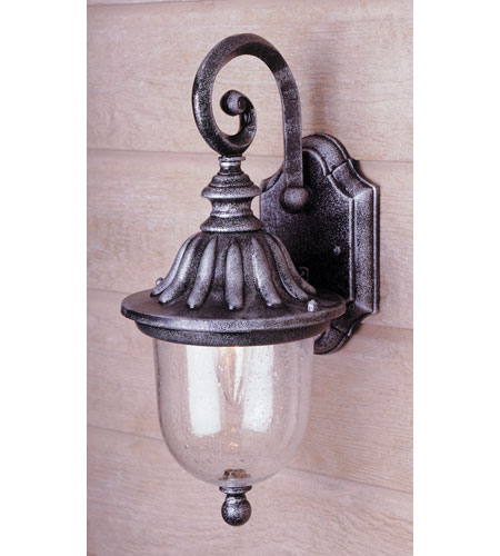 Trans Globe Lighting Classic 1 Light Outdoor Wall Lantern in Swedish Iron 4187-SWI photo