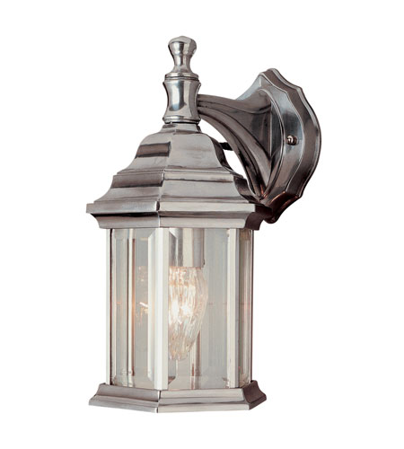 Trans Globe Lighting The Standard 1 Light Outdoor Wall Lantern in Brushed Nickel 4349-BN photo