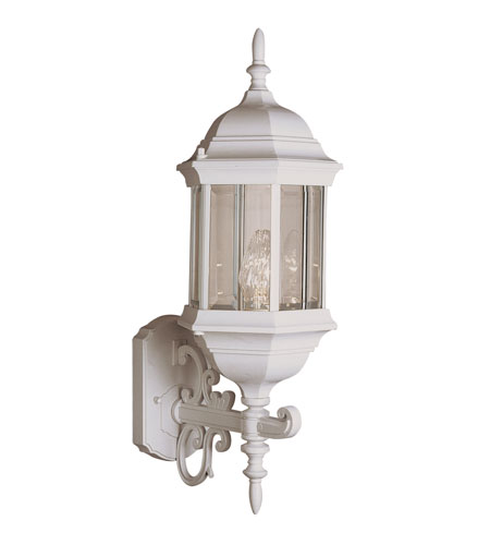 Trans Globe Lighting Classic 1 Light Outdoor Wall Lantern in White 4351-WH photo