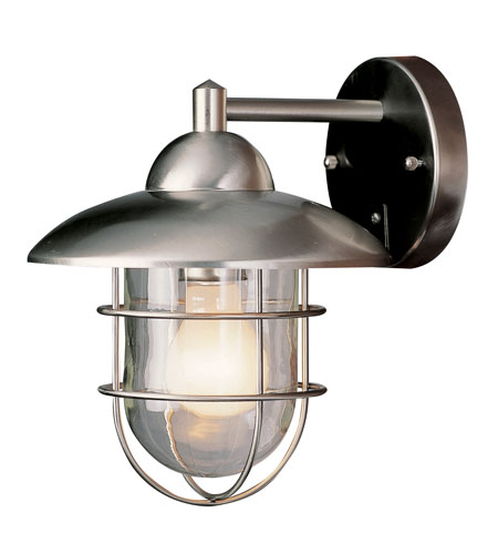 Trans Globe Lighting Coastal 1 Light Outdoor Wall Lantern in Stainless Steel 4370-ST photo