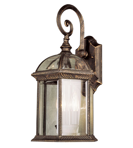 Trans Globe Lighting Classic 1 Light Outdoor Wall Lantern in Black Copper 4181-BC photo