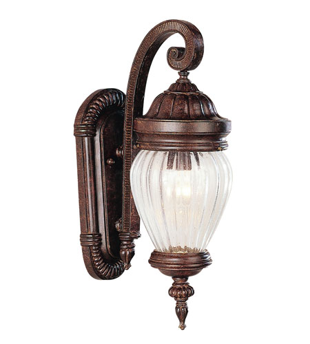 Trans Globe Lighting New American 3 Light Outdoor Wall Lantern in Antique Rust 4441-AR photo