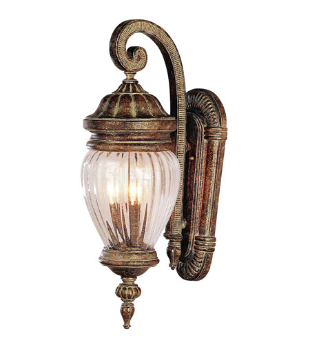 Trans Globe Lighting New American 4 Light Outdoor Wall Lantern in Antique Gold 4444-AG photo