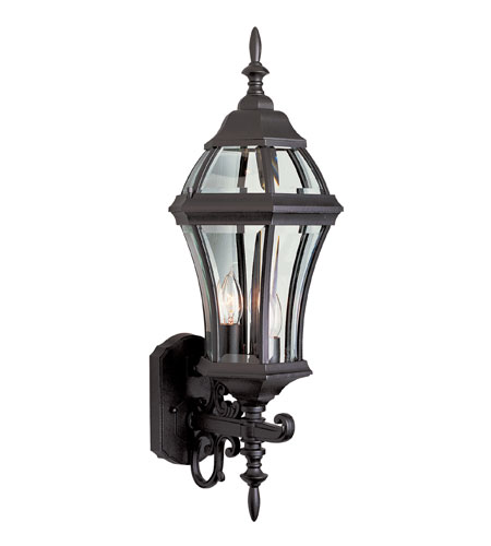 Trans Globe Lighting The Standard 3 Light Outdoor Wall Lantern in Black 4522-BK photo