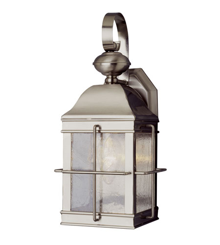 globe lighting coastal 1 light outdoor wall lantern in brushed nickel. Black Bedroom Furniture Sets. Home Design Ideas