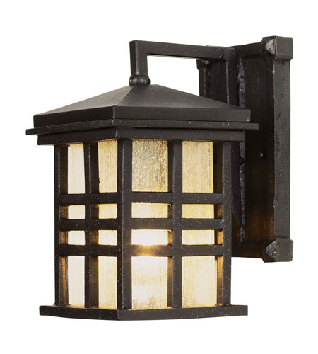 Trans Globe Lighting Craftsman 1 Light Outdoor Wall Lantern in Black 4635-BK photo
