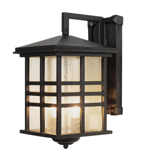 Trans Globe Lighting 4636-BK Craftsman 2 Light 13 inch Black Outdoor Wall Lantern photo