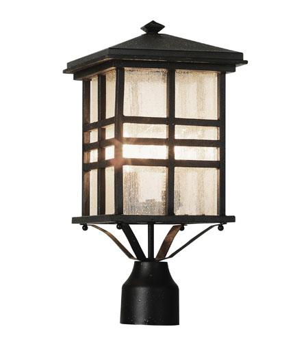 Trans Globe Lighting Craftsman 2 Light Post Lantern in Black 4639-BK photo