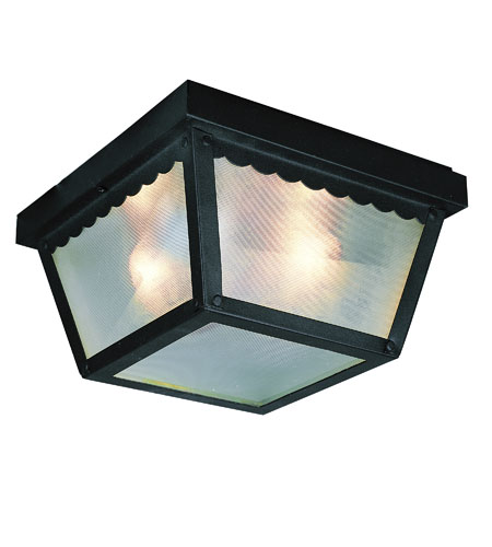 Trans Globe Lighting The Standard 1 Light Outdoor Flush Mount in Black 4901-BK photo
