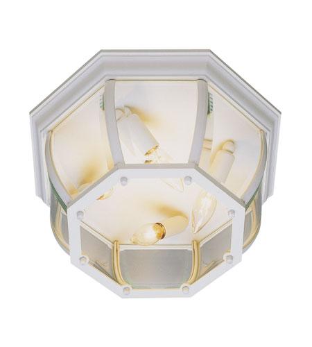 Trans Globe Lighting The Standard 3 Light Outdoor Flush Mount in White 4906-WH photo