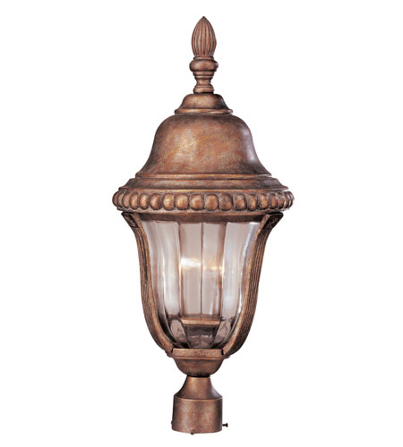 Trans Globe Lighting New American 3 Light Post Lantern in Antique Bronze 4925-ABZ photo