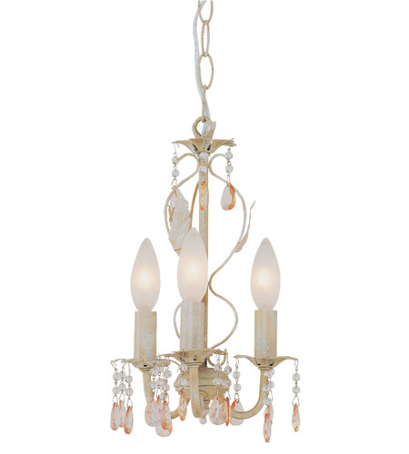Trans Globe Lighting Kids Korner 3 Light Chandelier in Antique White 50310-AW photo