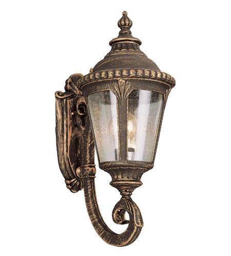Trans Globe Lighting 5040 Bg Stonebridge 1 Light 19 Inch Black Gold Outdoor Wall Lantern