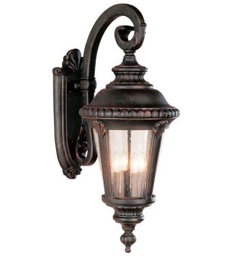 Trans Globe Lighting Estate 4 Light Outdoor Wall Lantern in Black Gold 5045-BG photo