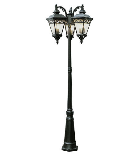 Trans Globe Lighting Villa 9 Light Pole Lantern in Black 50518-BK photo