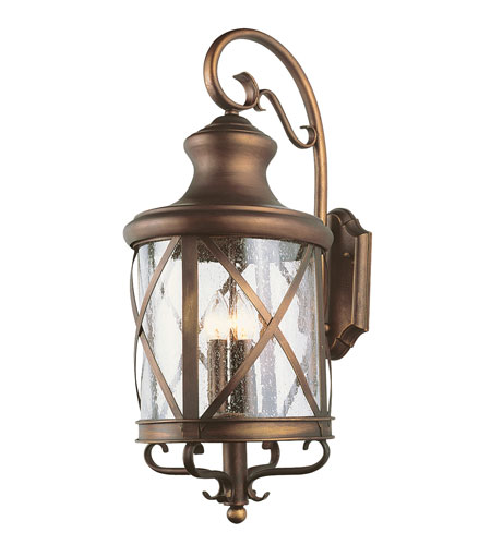 Trans Globe Lighting Coastal 3 Light Outdoor Wall Lantern in Antique Copper 5121-AC photo