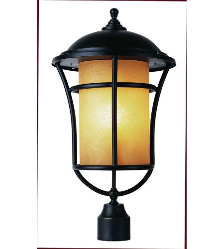 Trans Globe Lighting Craftsman 1 Light Post Lantern in Weathered Bronze 5256-WB photo