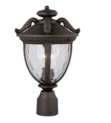 Trans Globe Lighting Villa 1 Light Post Lantern in Black 5274-BK photo