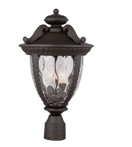Trans Globe Lighting Villa 2 Light Post Lantern in Black 5276-BK photo