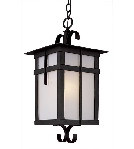 Trans Globe Lighting Craftsman 1 Light Outdoor Hanging Lantern in Black 5286-BK photo