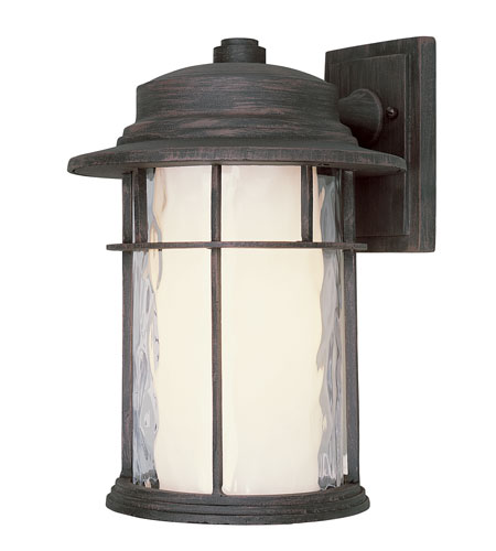 Trans Globe Lighting Craftsman 1 Light Outdoor Wall Lantern in Rust 5291-RT photo