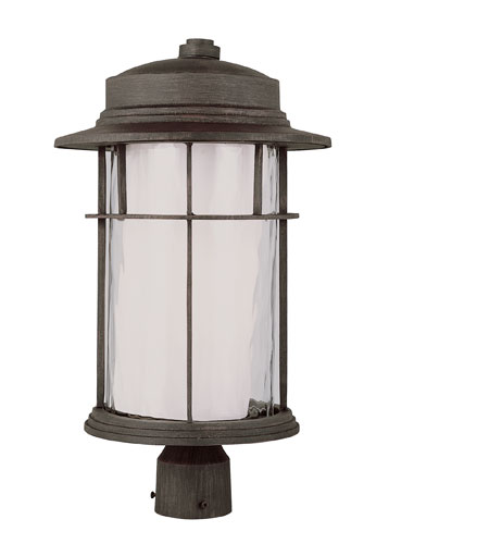 Trans Globe Lighting Craftsman 1 Light Post Lantern in Rust 5296-RT photo
