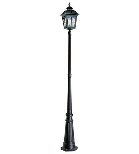 trans globe lighting 5423ar chesapeake 1 light 86 inch antique rust lamp post photo