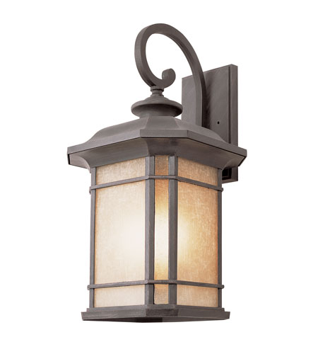 Trans Globe Lighting The Standard 3 Light Outdoor Wall Lantern in Rust 5822-RT photo
