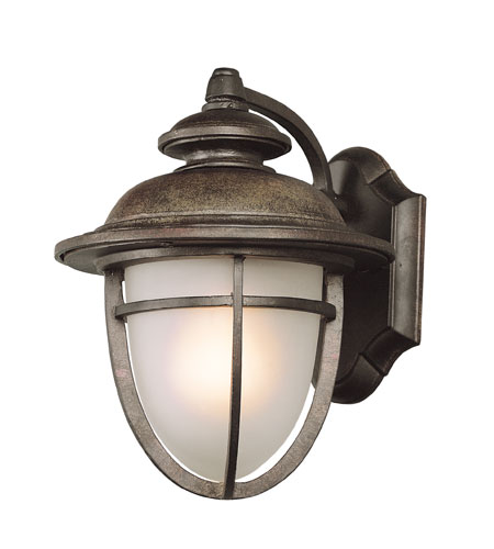 Trans Globe Lighting Coastal 1 Light Outdoor Wall Lantern in Dark Rust 5851-DR photo