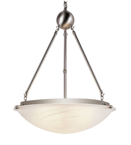 Trans Globe Lighting Contemporary 3 Light Pendant in Brushed Nickel 58608-BN photo