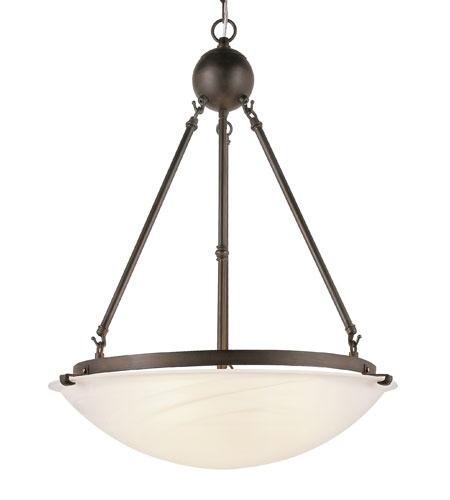 Trans Globe Lighting Contemporary 3 Light Pendant in Rubbed Oil Bronze 58608-ROB photo