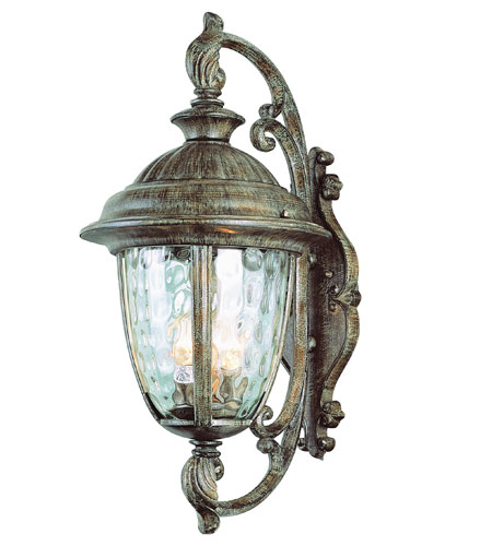 Trans Globe Lighting Villa 2 Light Outdoor Wall Lantern in Burnished Rust 5901-BRT photo