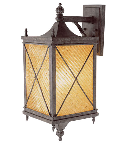 Trans Globe Lighting Estate 1 Light Outdoor Wall Lantern in Antique Rust 5921-AR photo