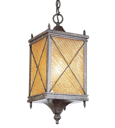 Trans Globe Lighting Estate 1 Light Outdoor Hanging Lantern in Antique Rust 5924-AR photo