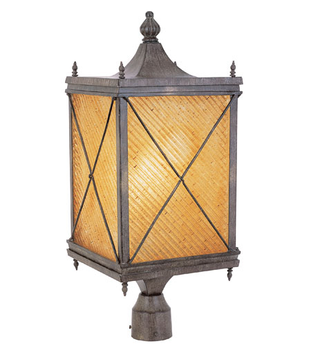 Trans Globe Lighting Estate 1 Light Post Lantern in Antique Rust 5925-AR photo