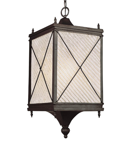 Trans Globe Lighting Estate 1 Light Outdoor Hanging Lantern in Black 5926-BK photo