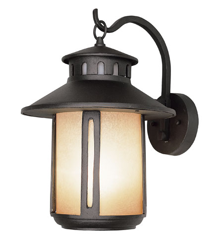 Trans Globe Lighting Craftsman 1 Light Outdoor Wall Lantern in Black 5951-BK photo