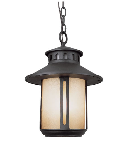 Trans Globe Lighting Craftsman 1 Light Outdoor Hanging Lantern in Black 5954-BK photo