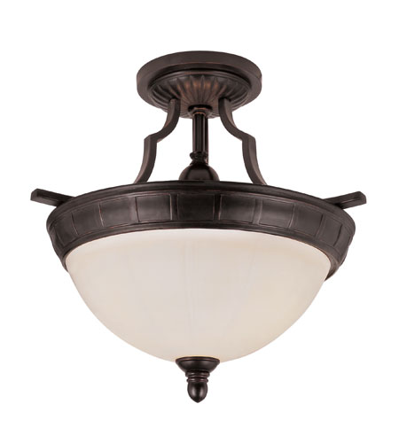 Trans Globe Lighting New Century 3 Light Semi-Flush Mount in Slate 6041 photo