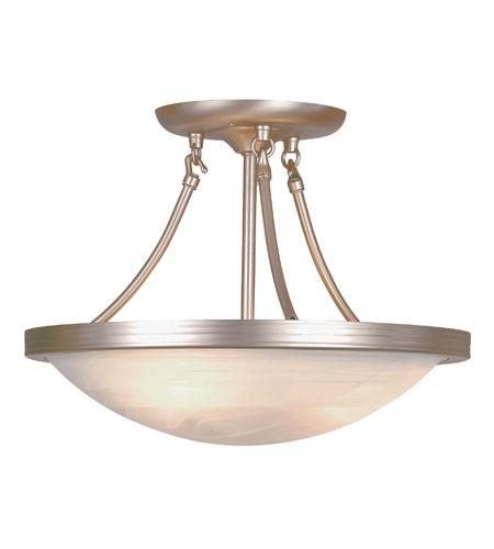 Trans Globe Lighting Modern Meets Traditional 3 Light Semi-Flush Mount in Brushed Nickel 6210-BN photo