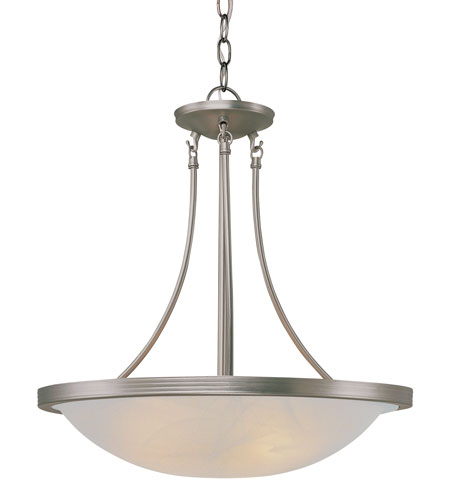 Trans Globe Lighting Modern Meets Traditional 3 Light Pendant in Brushed Nickel 6212-BN photo