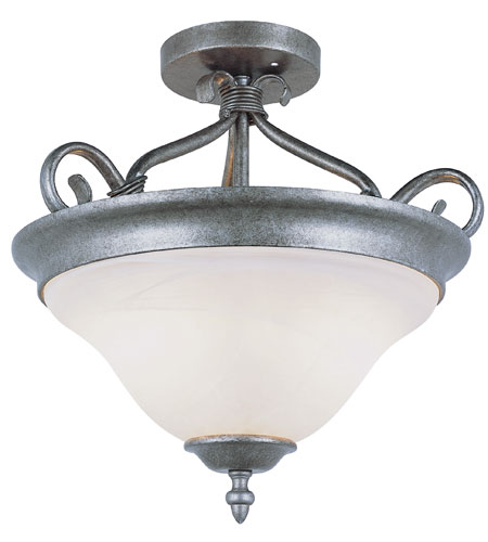 Trans Globe Lighting New Century 2 Light Semi-Flush Mount in Pewter 6390-PW photo