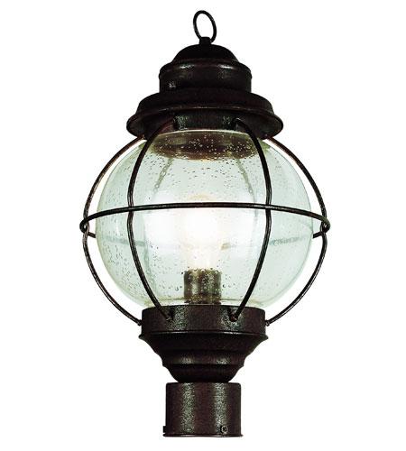 Trans Globe Lighting Coastal 1 Light Post Lantern in Rustic Bronze 69905-RBZ photo