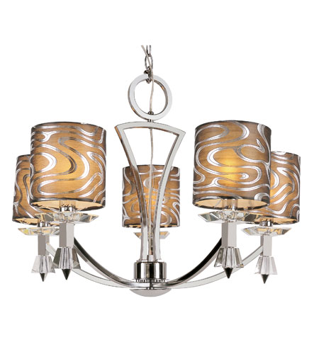 Trans Globe Lighting Young And Hip 5 Light Chandelier in Polished Chrome 70115-PC photo