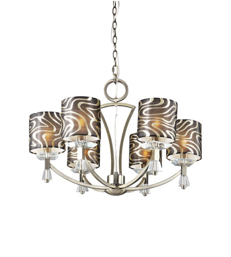 Trans Globe Lighting Young And Hip 6 Light Chandelier in Antique Brass 70116-AB photo